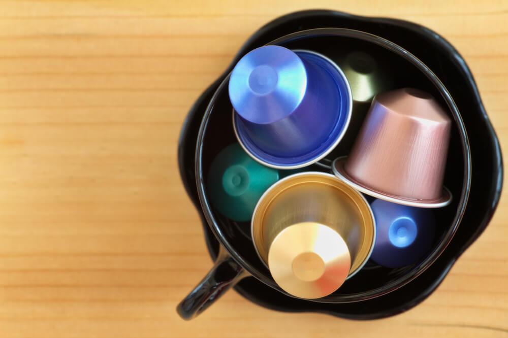 coffee capsules in a jar