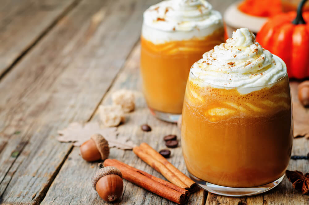 Pumpkin spice latte without coffee